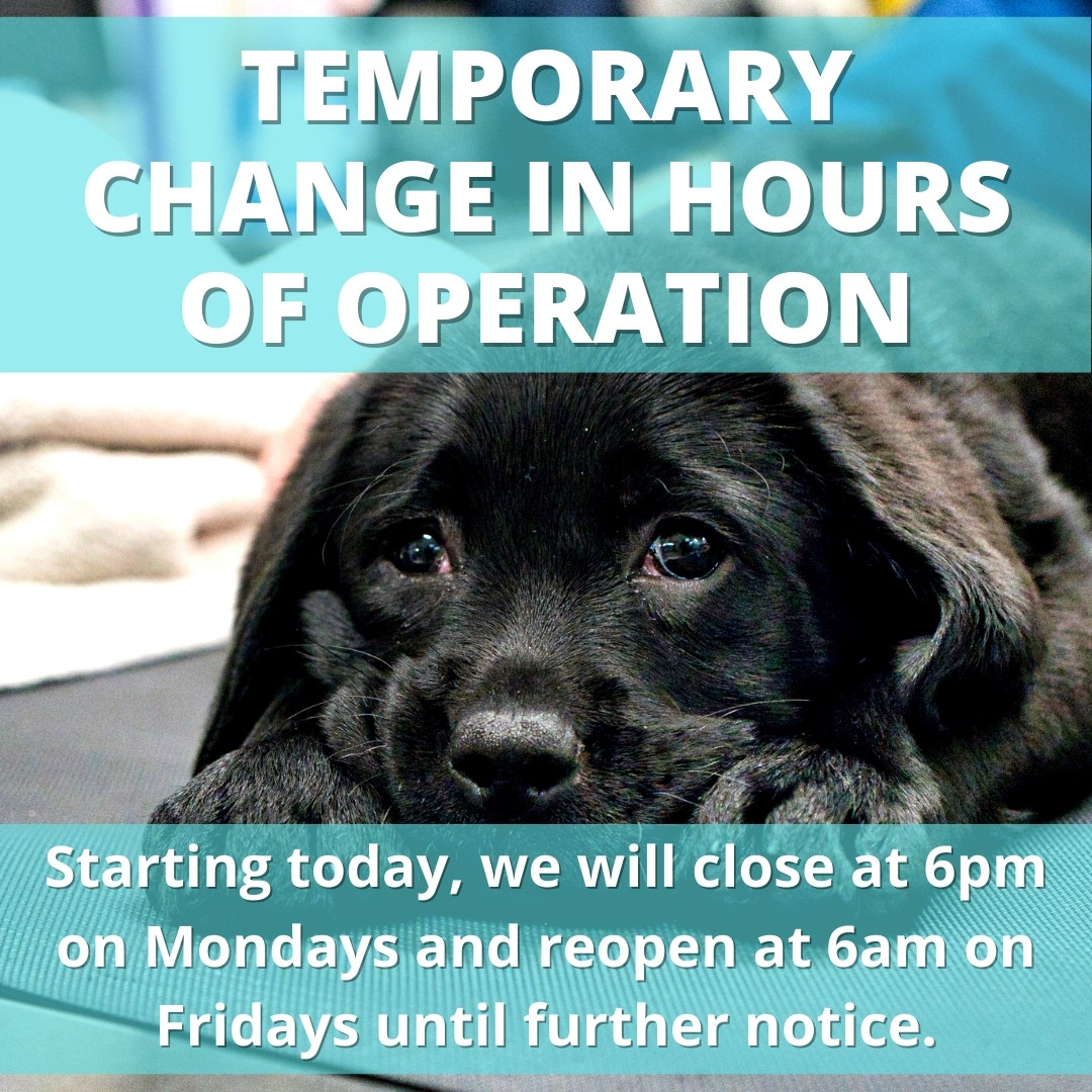 Reminder: Temporary Change to Hours
